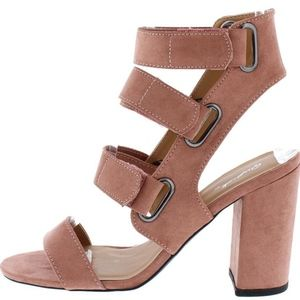 Shoes - Brand New! MAUVE STRAPPY BLOCK HEELS